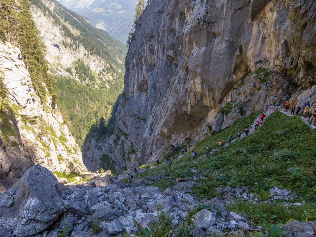 Bild der Saugasse oberhalb des Königssees